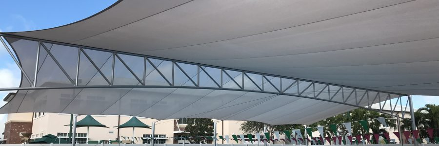 Tension structures are beautiful architectural shade structures that are both functional and visually appealing!